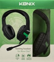 Konix Over-Ear Gaming Headphones with Microphone for Xbox One (Black and Green):