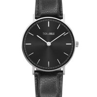 Tick & Ogle Mens Wrist Watch - Herman Leather (Black):