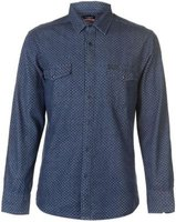 Pierre Cardin Mens AOP Denim Shirt (Indigo):