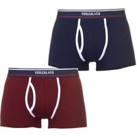 SoulCal Mens Plain Trunks (Navy and Burgundy)(Pack of 2):
