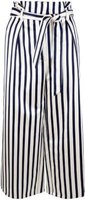 Closet London Ladies Bow Tie Straight Leg Trouser (Black and White):