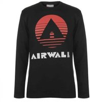 Airwalk Mens Classic Sweatshirt (Black) [Parallel Import]: