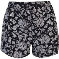 Golddigga Ladies Print Shorts - Black: