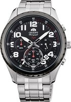 Orient Sporty Chronograph Black Dial Men Watch: