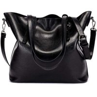 PU Leather Women's Tote Shoulder Bag (Black):