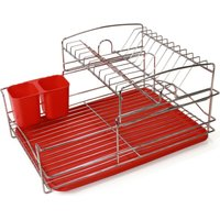 Fine Living Balcony Dish Rack (Red):