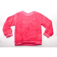Long Sleeve Glitter Sweat Top (Pink):