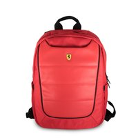 "FERRARI -  Backpack 15"" Red With Black Piping:"