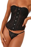 I Saw it First - Ladies Black Lace Corset: