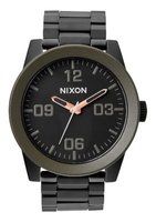 Nixon Gents Corporal SS Analogue Watch (Matte Black & Industrial Green):