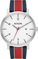 Nixon Men's Rollo Analog Watch (White & Stripe):