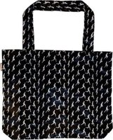 Pylones Black Running Man Shopping Bag: