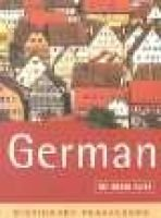 The Rough Guide to German (a Dictionary Phrasebook) (English, German, Paperback, 2nd Ed): Horst Kopleck, Lexus