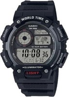 Casio World Time Digital Wrist Watch (Black):