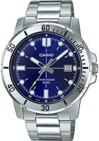 Casio Analogue Wrist Watch (Silver and Blue):