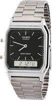 Casio Vintage Analog & Digital Wrist Watch (Silver & Black):