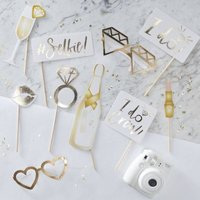 I Do Crew - Gold Foiled Photo Booth Props: