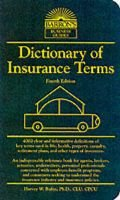 Dictionary of Insurance Terms (Paperback, 4th edition): Robin Harvey