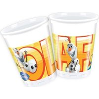Olaf Summer 8 Plastic Cups (200ml):