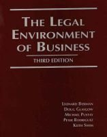 The Legal Environment of Business (Paperback, 3rd Revised edition): Leonard Bierman, Etc
