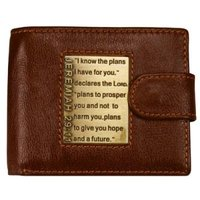 I Know the Plans Wallet (Leather / fine binding):