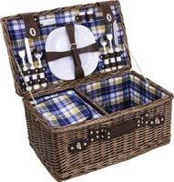 Avanti Picnic Basket (4 Person) (Blue & Yellow):