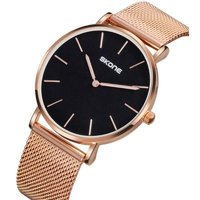 skone camden rose gold and black unisex watch:
