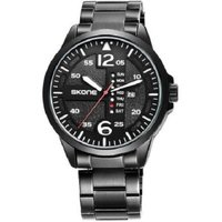 skone men's rochester watch-black link strap: