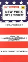 New York City and Vicinity (Sheet map, folded, 9th Revised edition): American Automobile Association