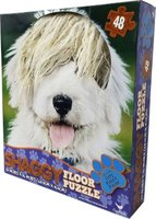Dog with Hair Floor Puzzle: