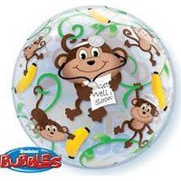 Bubble Balloon - Get Well Monkeys 56 cm:
