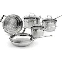 SCANPAN Impact 8 Piece Cookware Set (Stainless Steel):