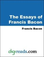 The Essays of Francis Bacon (Electronic book text): Francis Bacon