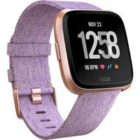 Fitbit Versa Fitness Smartwatch - Special Edition (Lavender Woven and Rose Gold Aluminium):