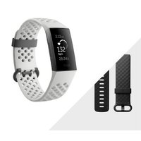 Fitbit Charge 3 Fitness Activity Tracker with Heart Rate Monitor - Special Edition (Frost White and Graphite):