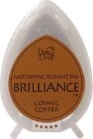 Tsukineko Brilliance Dew Drop Ink Pad - Cosmic Copper: