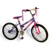 "Peerless BMX Flower Power Bike 20"" - Purple:"