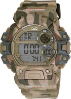 Q&Q Mens Multifunction Outdoor Wrist Watch with Camouflage Face and Strap: