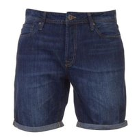 Jack & Jones Mens Jeans Intelligence Rick Denim Shorts (Dark Wash 823) [Parallel Import]: