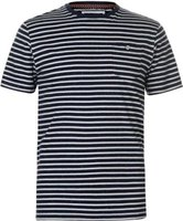 SoulCal Mens Stripe T-Shirt (Navy and White):