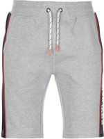 SoulCal Mens Deluxe Panel Jogging Shorts (Grey Marl):