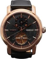 Matt Arend Tour De Noir Dual Time Watch (Red Gold):