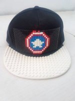Building Blocks Cap (Captain America | White Peak):