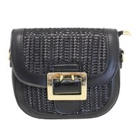 Blackcherry Hessian Cross Body Bag (Black):