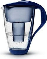 PearlCo Glass Classic 2L Water Filter Jug with One Cartridge (Dark Blue):