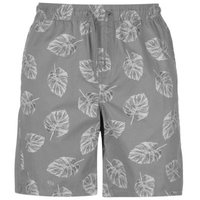 Pierre Cardin Mens AOP Dock Shorts - Grey Palm  [Parallel Import]: