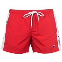 Champion Mens Tape Swim Shorts - Red  [Parallel Import]: