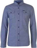 Firetrap Mens Blackseal Dogtooth Shirt - White/Navy [Parallel Import]: