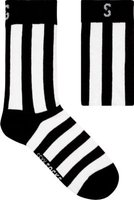 SexySocks Black & White Stripe Socks: