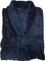 Bunty's Velvet Bathrobe (420GSM)(Navy):
